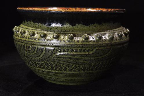 Green Geometric Vase-Charles Smith