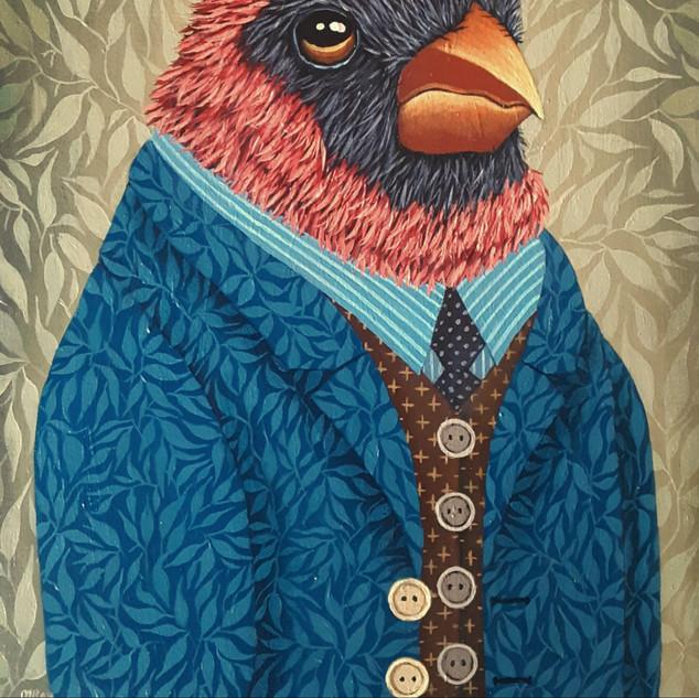 """Cardinal #3-Garden Portrait Series "" by Marisa Ray"