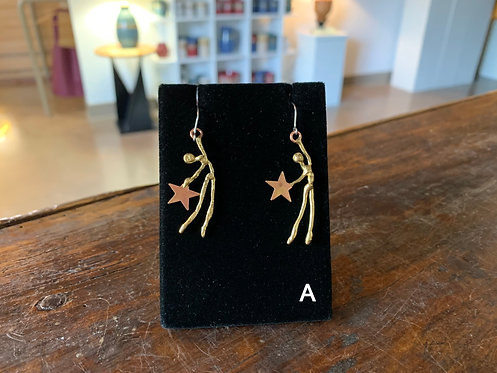 Figurative Earrings-Suzanne & Angelique Juneau