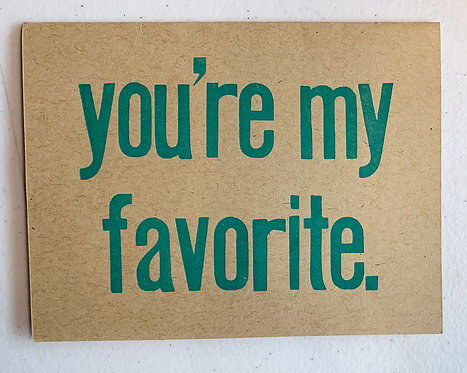 You're My Favorite Card-Jessica Peterson