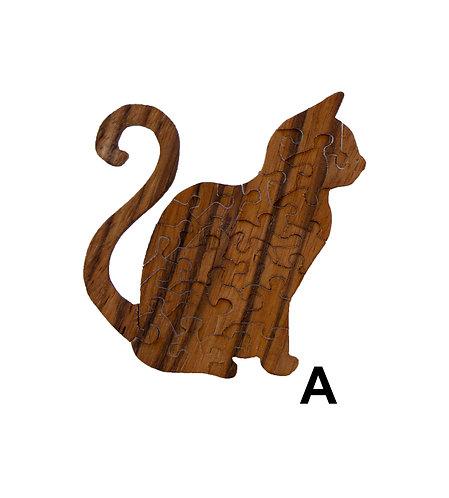 Schrodinger's Cat Wood Puzzles-Chestnut & Hemlock