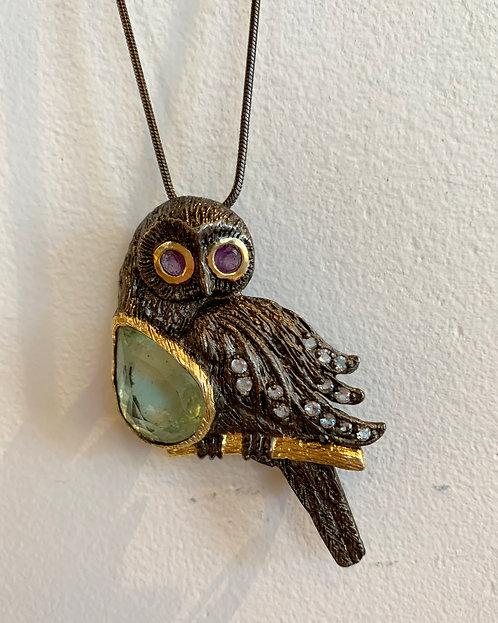 Owl Broach & Pendant-Megan Austin
