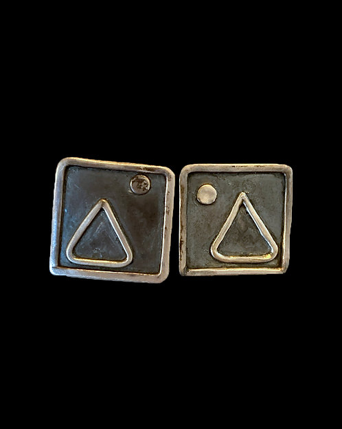 Geometric Sterling Earrings-Leigh Lynn