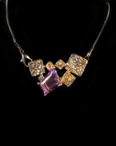 Abstract Amethyst Necklace-Meg
