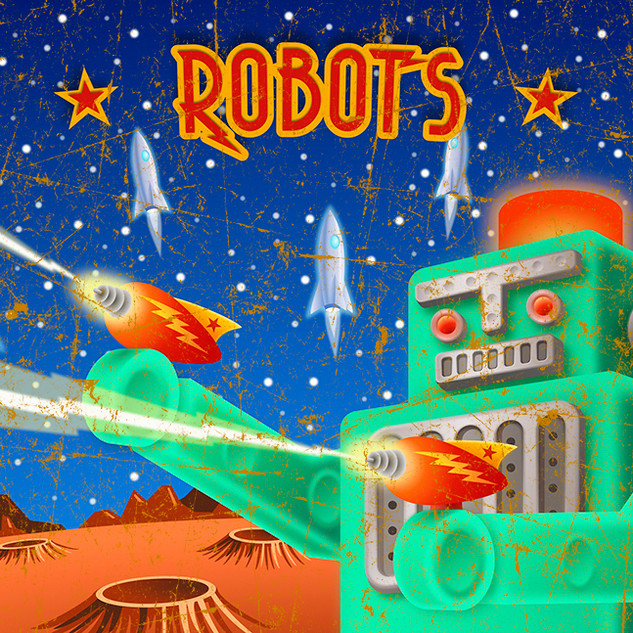 """Rockets Robots Rayguns"" by Geoffrey Aaron Harris"