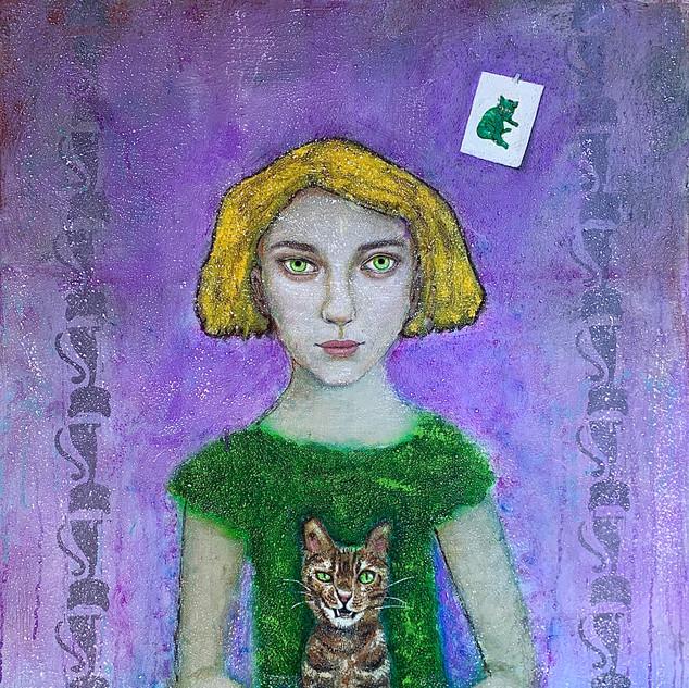 """Warhol's Cat"" by Mary Pasieka"