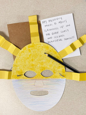 Memory Mask Activity for Boxes of Joy - based off of Jerry Coker's memory masks