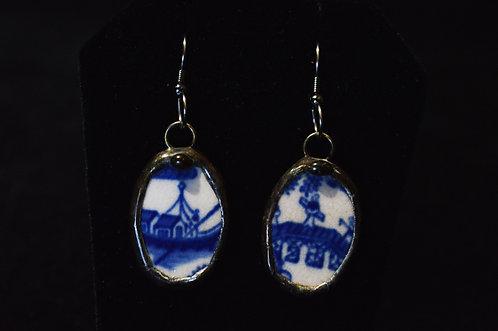 Blue Willow Earrings-Debra Farley