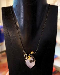 Rose Quartz Necklace-Megan Aus