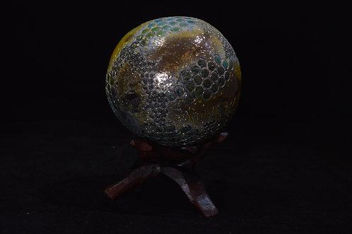 Golden Grey Raku Ball-Corinne Cox