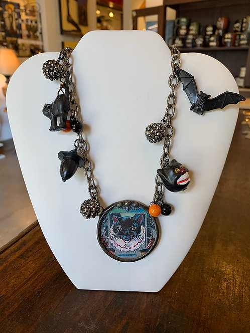 Black Cat Necklace-Debra Farley