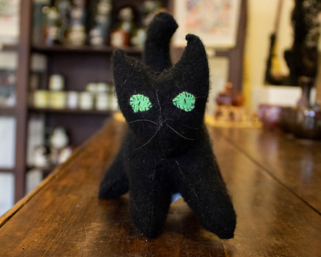 Black Stuffed Kitty - Caren Matukas