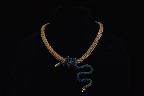 Squiggle Snake Necklace-Sarah Cavender