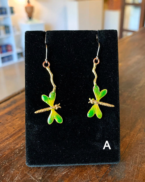 Dragonfly Earrings-Suzanne & Angelique Juneau