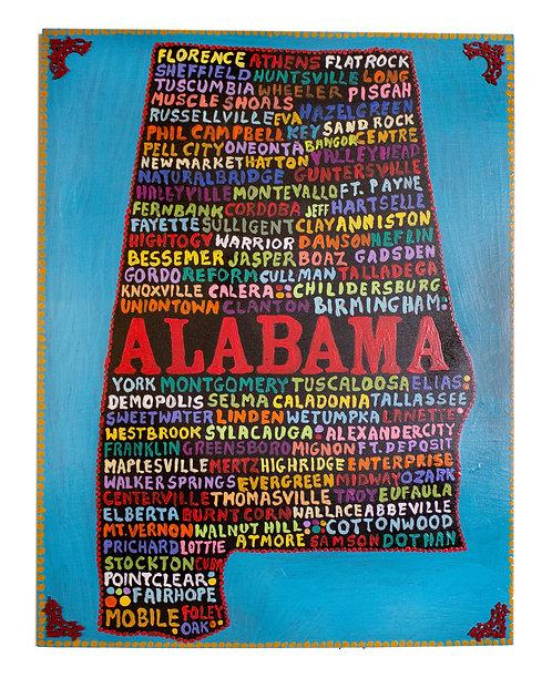 Alabama Panel Wall-Hanging-Elayne Goodman