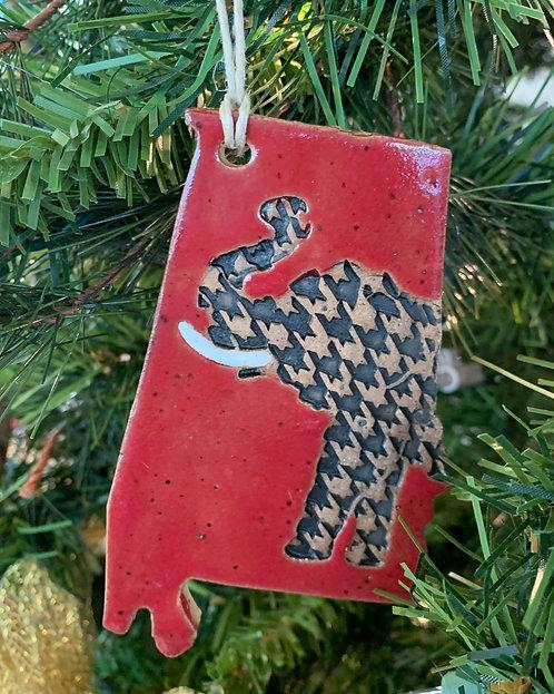Alabama Elephant Ornament-Susan Allen
