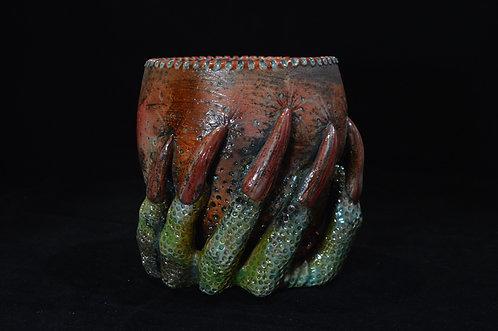Raku Dragon Claw Vessel-Corinne Cox