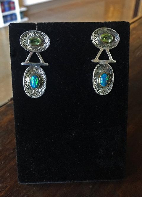 Peridot and Opal Earrings - Megan Austin