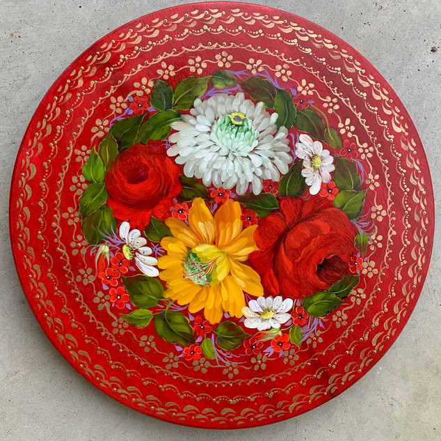 """""""Red Lazy Susan"""" by Becky Roberson"""