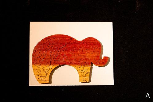Elephant Wood Puzzles-Chestnut & Hemlock