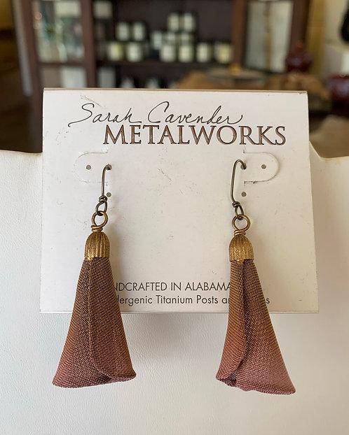 Small Blue Bell Earrings-Sarah Cavender