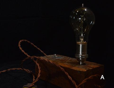 Desk Lamp-Flannel & Floral