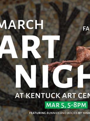 Josh Cote Art Night at Kentuck 2020