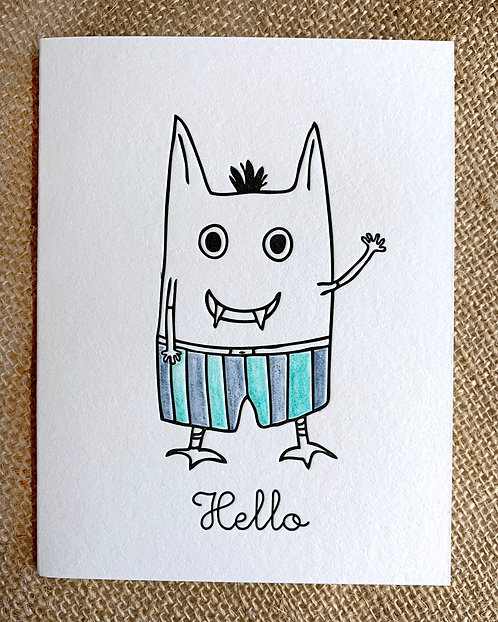 Hello Greeting Card-Sonja Rossow