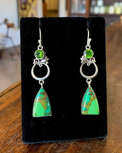 Peridot & Candy Apple Green Earrings - Megan Austin
