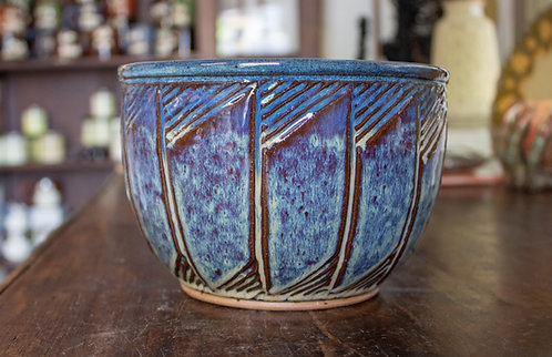 Blue Serving Bowl II - Marysia Galbraith