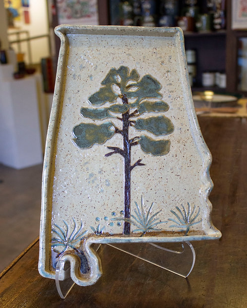 Longleaf Pine Tree Alabama Tray-Carol Lammon