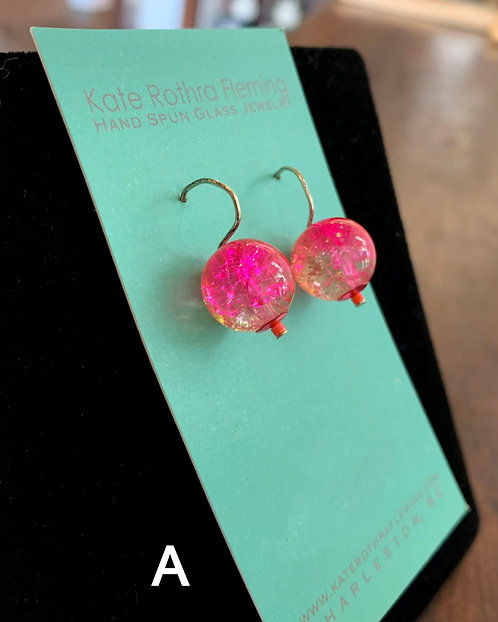 Small Glass Earrings-Kate Rothra Fleming