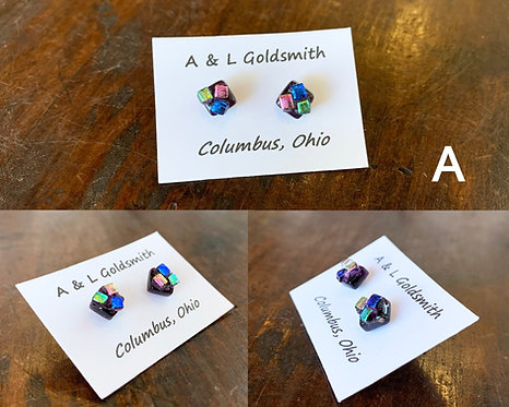 Glass Studs-A&L Goldsmith