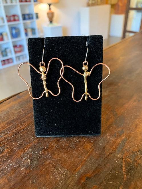 Buttefly Earrings-Suzanne & Angelique Juneau