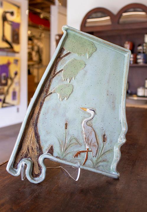 Heron Alabama Tray-Carol Lammon