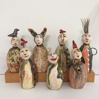 """Mini Totems"" by Su Griggs Allen"