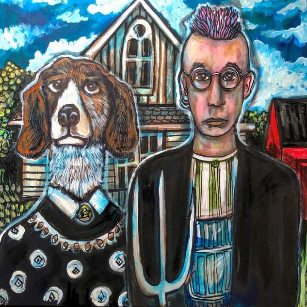 """""""American Gothic Beagle"""" by Kimberly Dawn Crowder"""
