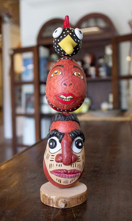 Totem Pole Gourd-Teresa Wamble