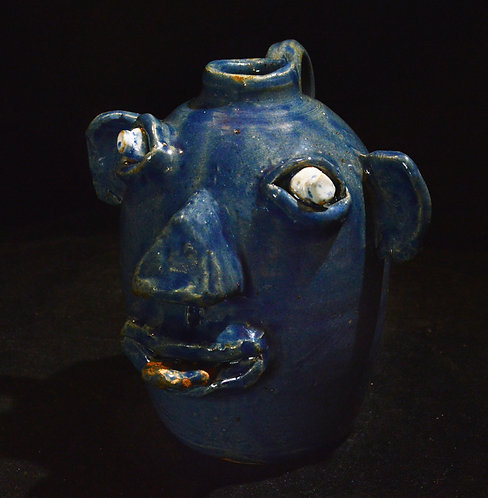 Face Jug-Jeff Wilburn, Brown's Pottery