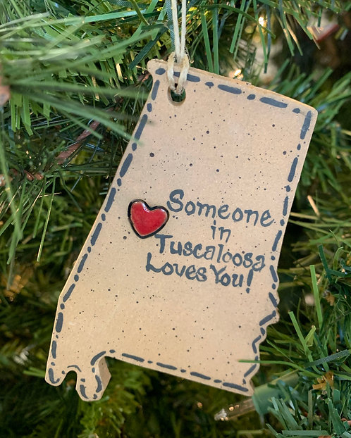 Someone in Tuscaloosa Loves You Ornament-Susan Allen