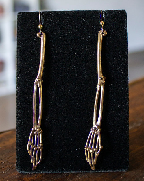 Skeleton Arm Earrings -Ricky Boscarino