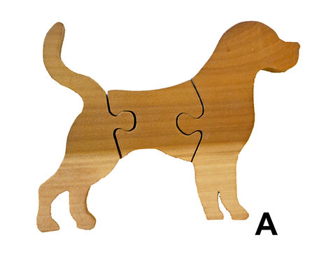 3 Piece Dog Puzzle-Chestnut & Hemlock