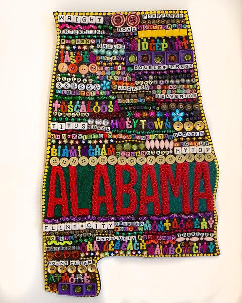 Beaded Alabama Wall-Hanging-Elayne Goodman