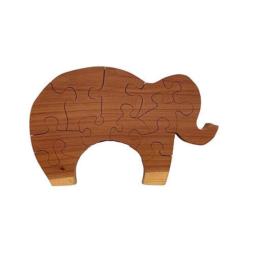 Animal Wood Puzzles-Chestnut & Hemlock