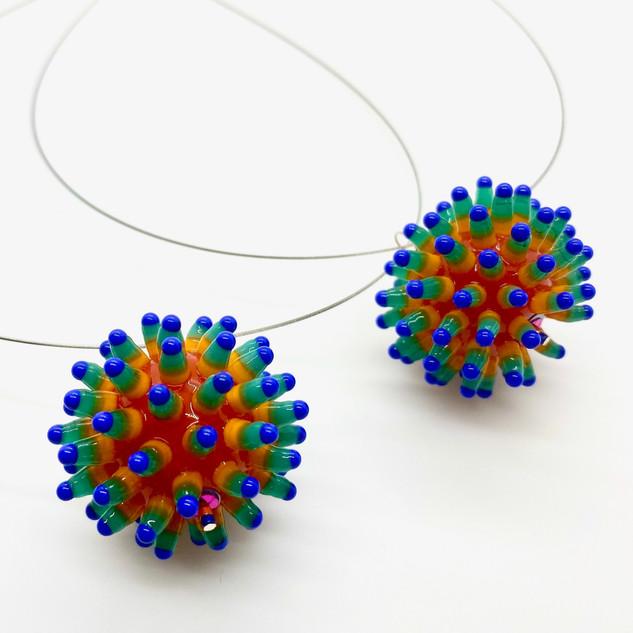 """'Coronavirus Quarantine' Pendant Necklace"" by  Kate Rothra Fleming"
