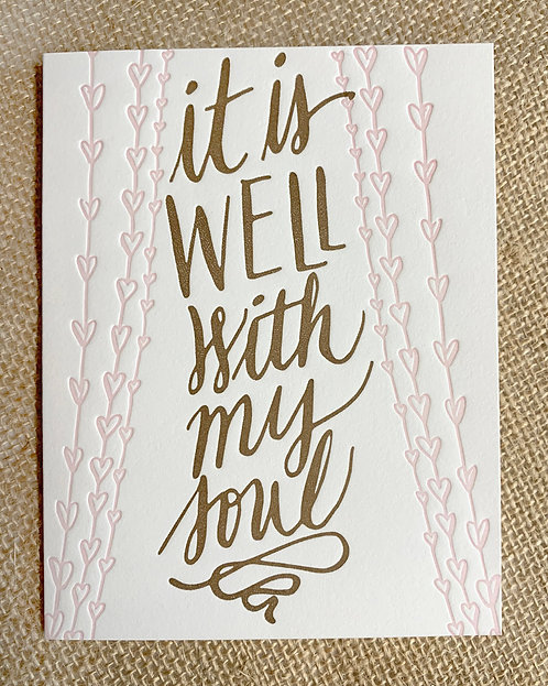 It Is Well Greeting Card-Thimblepress