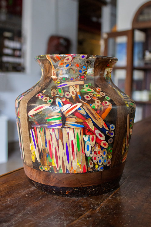 Colored Pencil Vase-Larry Jarvis