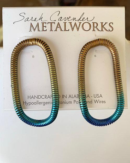 Oval Loop Earrings-Sarah Cavender