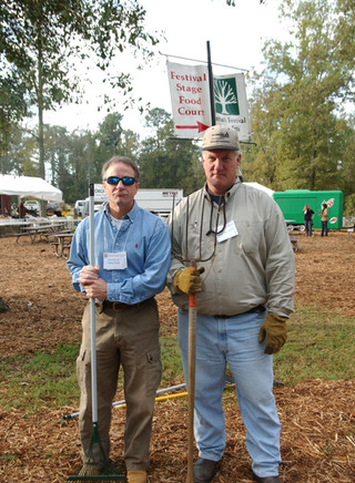Jim Harrison and Jerry Brown at the Kentuck Festival