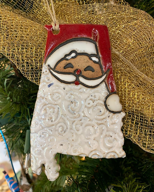 Alabama Santa Ornament-Susan Allen